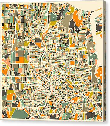 Rochester Map Canvas Print by Jazzberry Blue