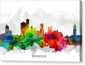 Rochester New York Cityscape 12 Canvas Print by Aged Pixel