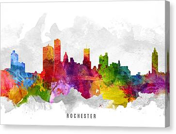 Rochester New York Cityscape 13 Canvas Print by Aged Pixel