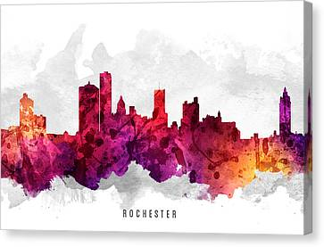 Rochester New York Cityscape 14 Canvas Print by Aged Pixel