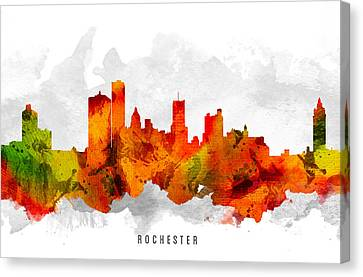 Rochester New York Cityscape 15 Canvas Print by Aged Pixel
