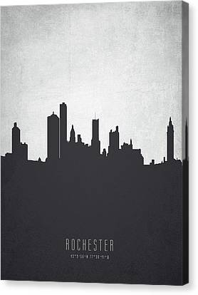Rochester New York Cityscape 19 Canvas Print by Aged Pixel
