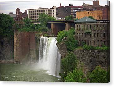 Canvas Print featuring the photograph Rochester, New York - High Falls 2 by Frank Romeo