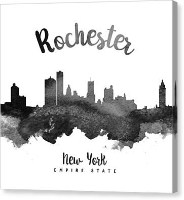 Rochester New York Skyline 18 Canvas Print by Aged Pixel