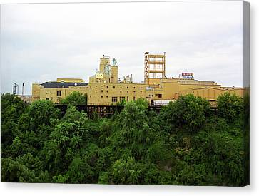 Canvas Print featuring the photograph Rochester, Ny - Factory On A Hill by Frank Romeo