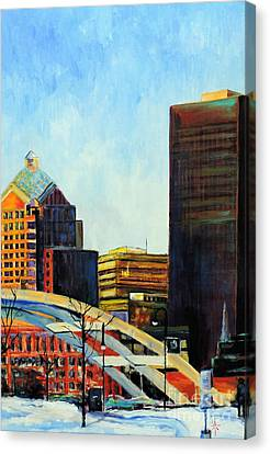 Rochester New York Late Winter Canvas Print