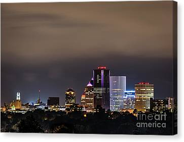 Rochester, Ny Lit Canvas Print