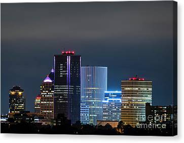 Rochester Ny Twilight Canvas Print