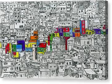 Rocinha Canvas Print by Carol Morris