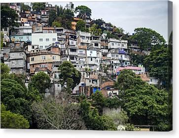 Rocinha Favela - Rio De Janeiro - South America Canvas Print by Jon Berghoff
