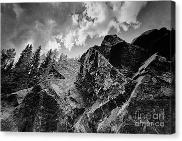 Rock #9542 Bw Version Canvas Print by Andrey Godyaykin