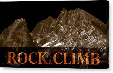 Rock And Climb Canvas Print by Frank Tschakert