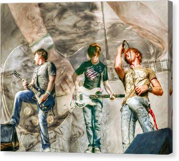 Rock And Roll Band Version 2 Canvas Print by Randy Steele