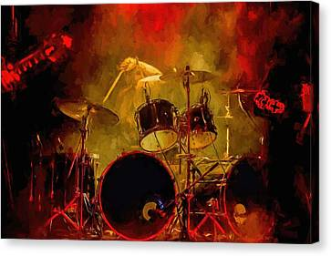 Rock And Roll Drum Solo Canvas Print