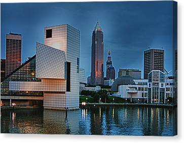 Rock And Roll Hall Of Fame And Museum Canvas Print by Richard Gregurich