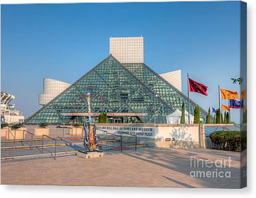 Rock And Roll Hall Of Fame I Canvas Print by Clarence Holmes