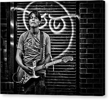 Rock And Roll In Kensington Market Canvas Print by Brian Carson