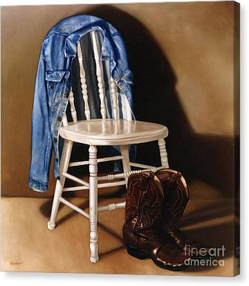 Kitchen Chair Canvas Print - Rock And Roll by Lawrence Preston