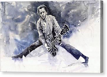 Berry Canvas Print - Rock And Roll Music Chuk Berry by Yuriy  Shevchuk