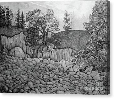 Rock Beach Canvas Print by John Stuart Webbstock