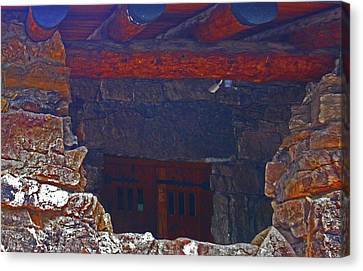 Canvas Print featuring the photograph Rock Building by Tammy Sutherland