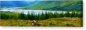 Rock Cairns In Scotland Canvas Print
