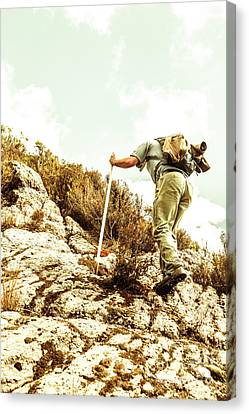 Rock Climbing Mountaineer Canvas Print by Jorgo Photography - Wall Art Gallery