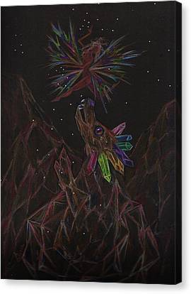 Canvas Print featuring the drawing Rock Collecting by Dawn Fairies