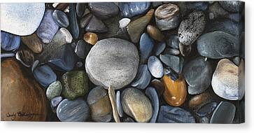 Rock Collection Canvas Print by Wendy Ballentyne