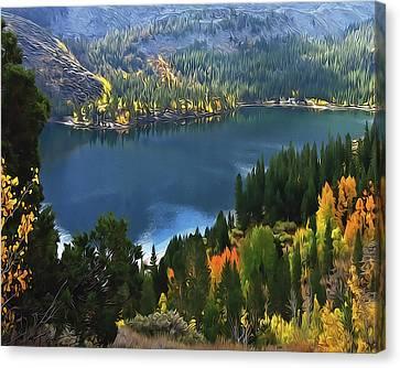 Rock Creek Lake In Fall Canvas Print