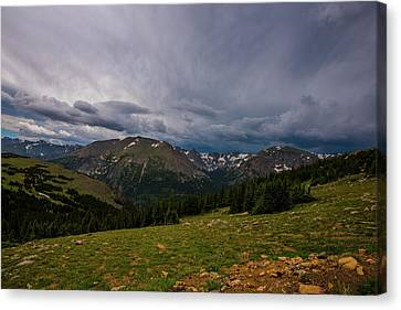 Canvas Print featuring the photograph Rock Cut 3 - Trail Ridge Road by Tom Potter