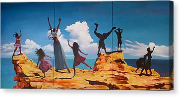 Rock Dancers Canvas Print by Geoff Greene