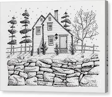 Rock Fence Canvas Print by Karla Gerard