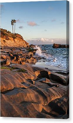 Canvas Print featuring the photograph Rock Formation Along The California Coast by Cliff Wassmann