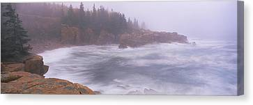 Rock Formations At The Coast, Mount Canvas Print by Panoramic Images