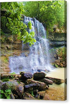 Canvas Print featuring the photograph Rock Glen by Rodney Campbell