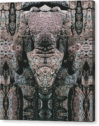 Canvas Print featuring the digital art Rock Gods Elephant Stonemen Of Ogunquit by Nancy Griswold