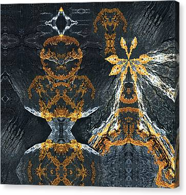 Canvas Print featuring the digital art Rock Gods Lichen Lady And Lords by Nancy Griswold