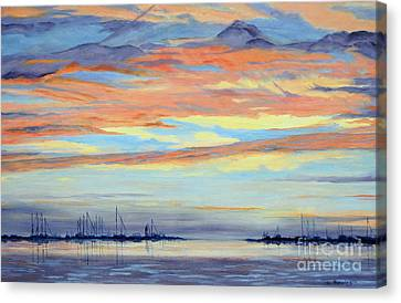 Rock Hall Sunset Canvas Print by Cindy Roesinger