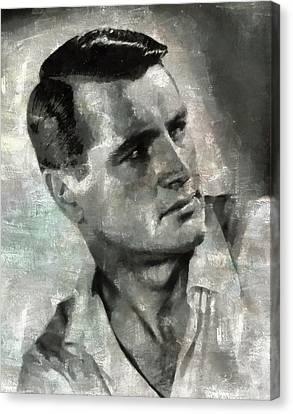 Rock Hudson Hollywood Actor Canvas Print by Mary Bassett