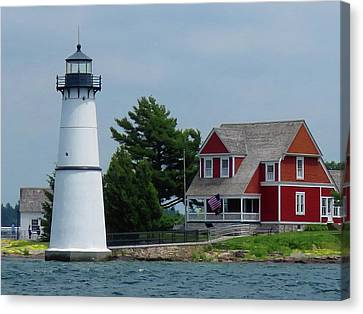 Rock Island Lighthouse July Canvas Print