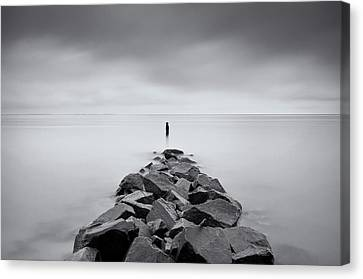 Rock Jetty At The Chesapeake Bay Canvas Print by MariAnne MacGregor