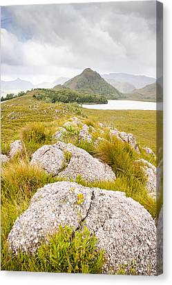 Outlook Canvas Print - Rock Landscape Off Lake Plimsoll Near Queenstown by Jorgo Photography - Wall Art Gallery