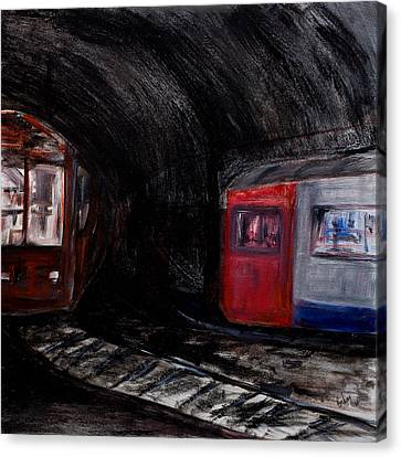 Rock Me London Underground Canvas Print by Emma Kinani