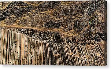 Rock Mountain Rock Art By Kaylyn Franks Canvas Print