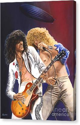 Led Zeppelin - Rock 'n Roll Canvas Print by Alex Artman