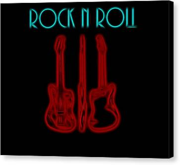 Rock N Roll Electric Poster Canvas Print