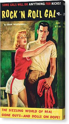 Canvas Print featuring the painting Rock 'n Roll Gal by Owen Kampen