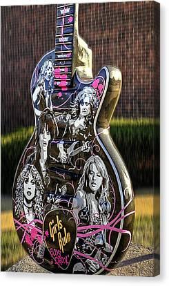 Rock N Roll...girls Rule Canvas Print by Deborah Klubertanz