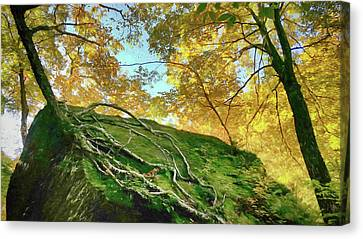 Canvas Print featuring the photograph Rock Of Ages by Jeff Folger
